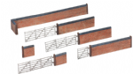 42-107 Bachmann Scenecraft Red Brick Walls and Gate